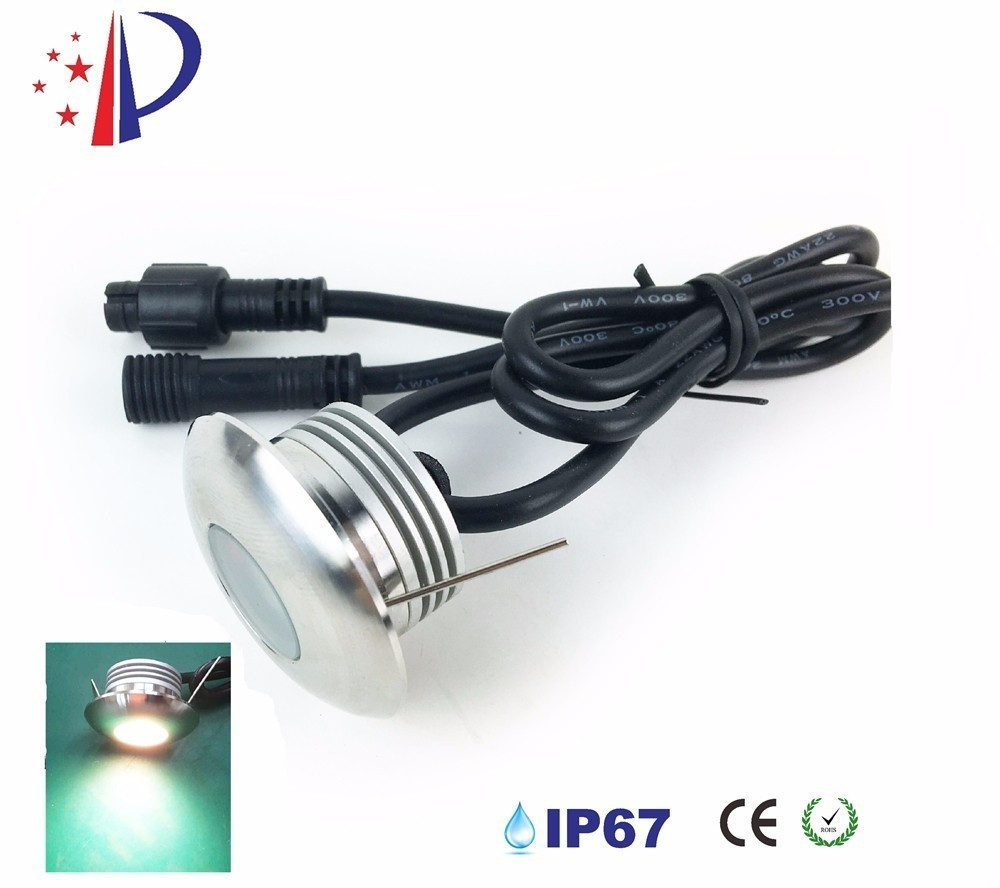 1w Led Recessed Wall Lamp Round Stainless Steel Step Stairs Ip67 Spotlight Porch Pathway Light Dc12v Basement Bulb 10pcs Ce Curing Cough And Facilitating Expectoration And Relieving Hoarseness Led Underground Lamps