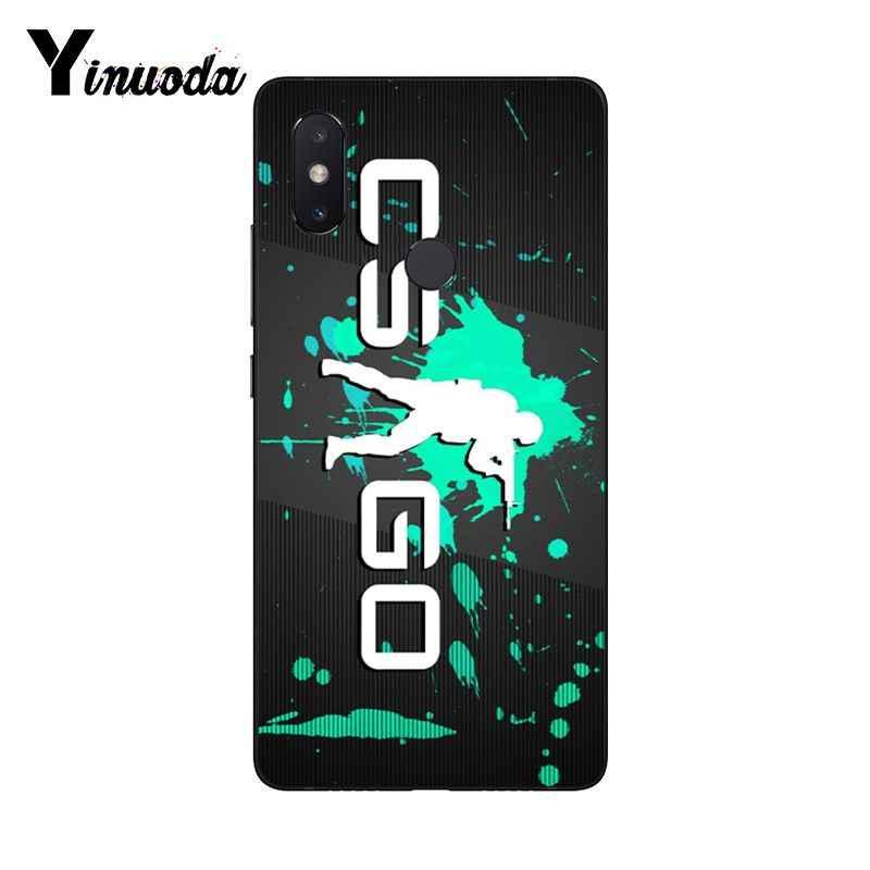 Yinuoda Counter Strike cs ללכת Coque פגז טלפון מקרה עבור שיאו mi mi 6 mi x2 mi x2S Note3 8 8SE אדום mi 5 5 בתוספת Note4 4X Note5