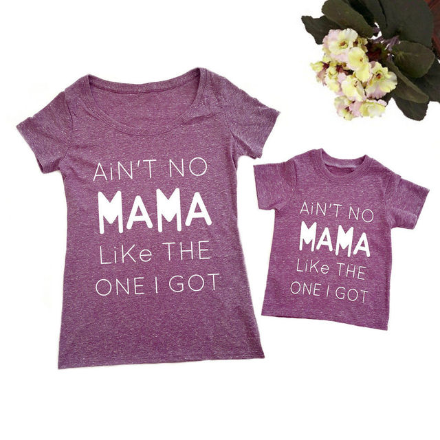bde07b5307d8 1 6T Family Shirt mother and daughter clothes Mom Kids Women Baby Boy Girl  Short Sleeve Top Tshirt Harajuku Tee Cute Outfits-in Matching Family ...