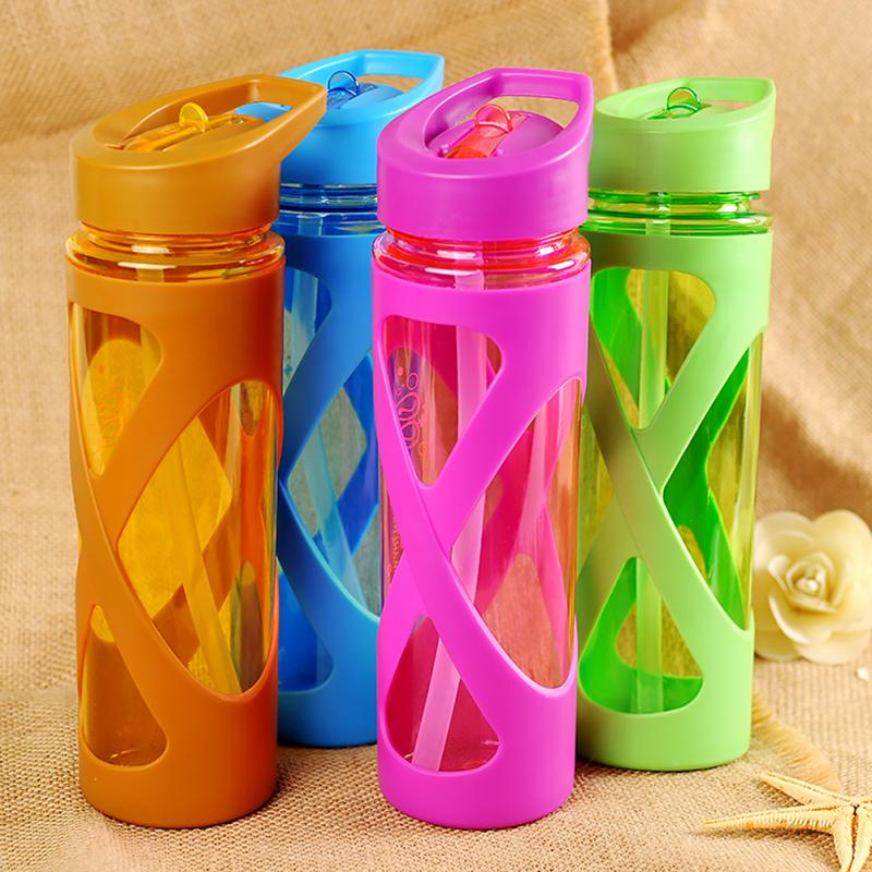 Water-Bottle Circle Nipple-Design Space Silicone Portable Children Wide-Neck-Straw Adult