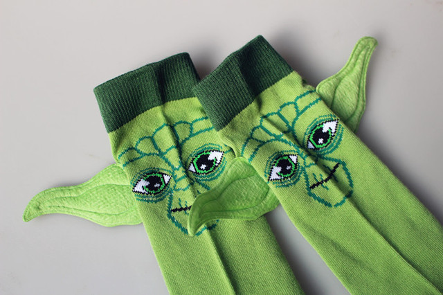 Star Wars Adorable Master Yoda Cotton Socks