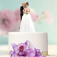 Synthetic Resin Bride Groom Cake Topper Wedding Party Decoration Craft Gift