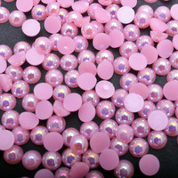 5000pcs Pack Semi Round Pearl Garment Beads Manual Stick Beads Wedding Clothes Shoes Bag Nail Art