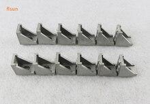 12pcs/lot metal frame 3d printer parts 2020 Aluminium Profile Corners Screws Set, 2028 Corners Reinforced bracket