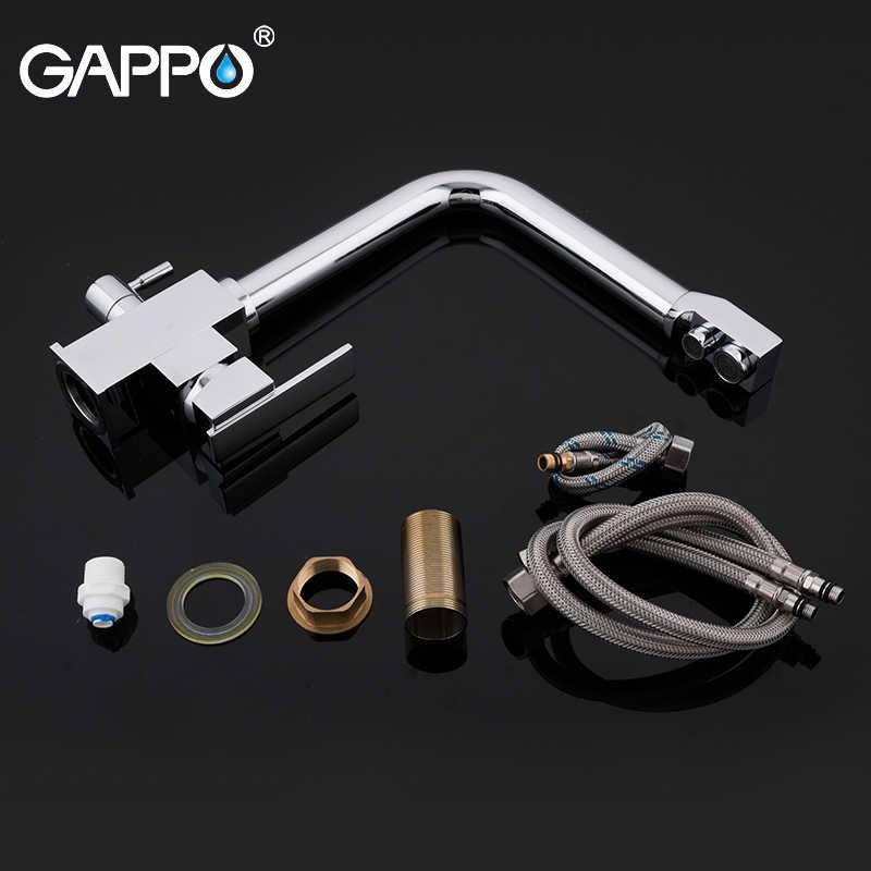 Gappo Keran Dapur Kuningan Krom DAPUR Kran Wastafel Dapur Filter Keran Mixer Keran Air Yang Dimurnikan Keran Torneira Y40519
