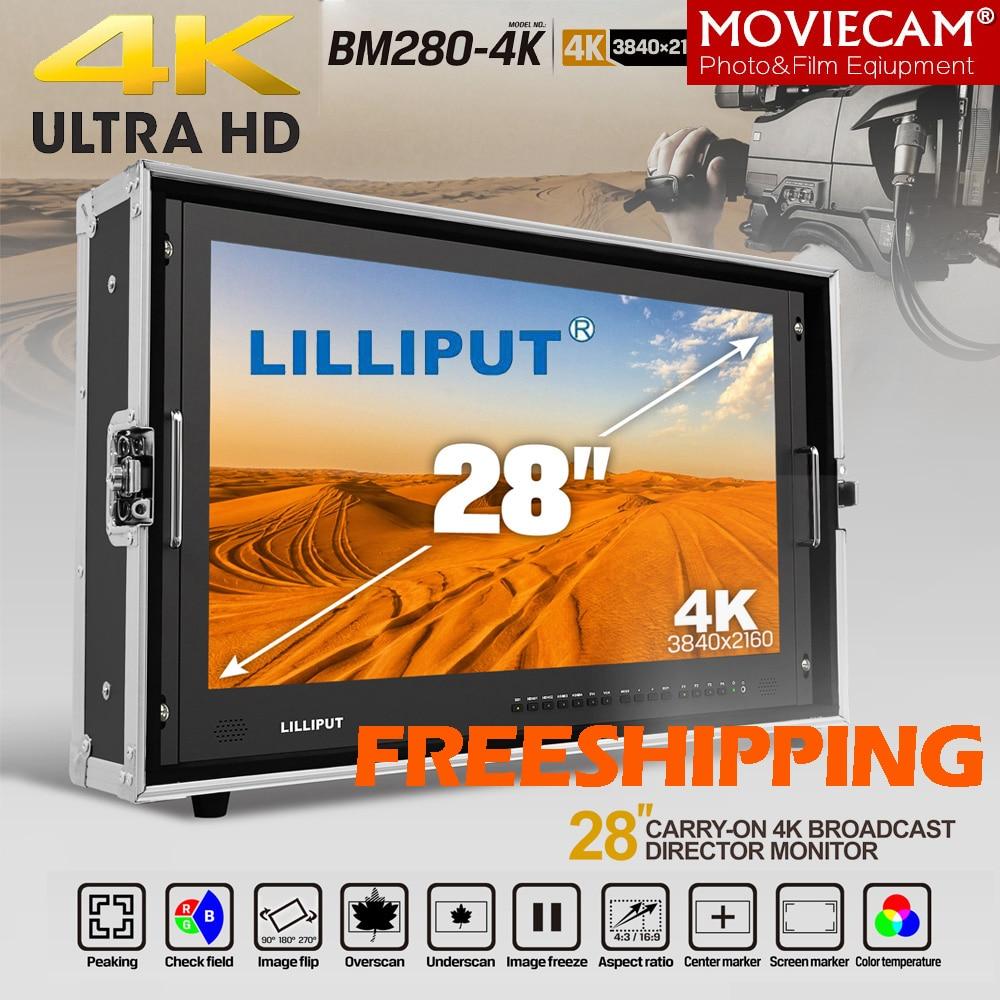 LILLIPUT 28 BM280-4K 3840*2160 Broadcast Monitor 3G SDI 4K Ultra HD Monitor SDI HDMI TALLY Director Monitor for Camera e320c 320c excavator monitor connector wire 157 3198 260 2160