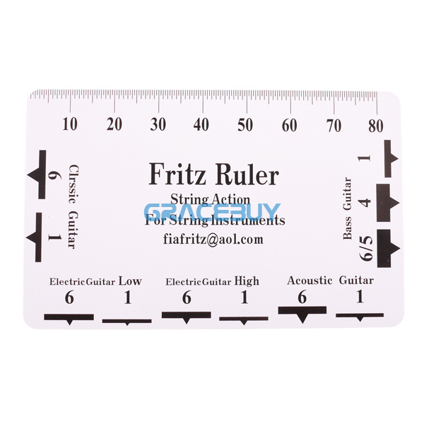 plastic guitar bass string action fritz ruler 10 pcs string pitch height ruler luthier tool in. Black Bedroom Furniture Sets. Home Design Ideas