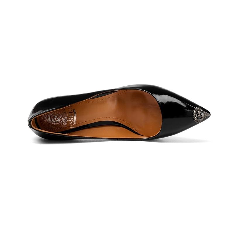 Chaussures Escarpins Couleurs Nouveau Dérapage Color Talons black Mince Dames Nude De Strass Zvq Mariage Cuir En Soirée Deux Bout Pointu Véritable Haute Résistance xzOC4qCnwU
