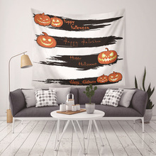 Tapestry Halloween Party Printed Wall Hanging For Home Decoration Tapestries Pumpkin Sheet Room Blanket Table Cloth Yoga Mat