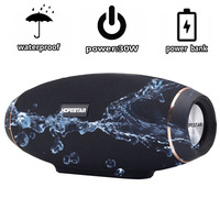 HOPESTAR H20 Wireless portable Bluetooth 2.1 Speaker 30W Waterproof Outdoor Bass Effect with Power Bank USB for Mobile phone