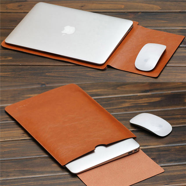 hot sales a36b3 e2b27 US $8.81 40% OFF|2018 For MacBook Air Pro 11 12 13 15 inch Laptop Vacuum  Bag PU Leather Case Sleeve Notebook Ultrabook Carry Bag Case Pouch-in  Laptop ...