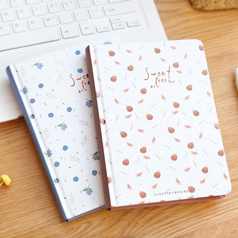 YMLP Sweet Fruit Hardcover Notebook B6 Horizontal Line Diary Notebook 1PCS