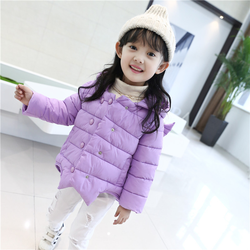 ФОТО Fashion Down Jackets for Girl Angel Style Winter Warm Jacket Hooded 3D Cartoon Coat Baby Christmas Clothes Winter Girls Snowsuit