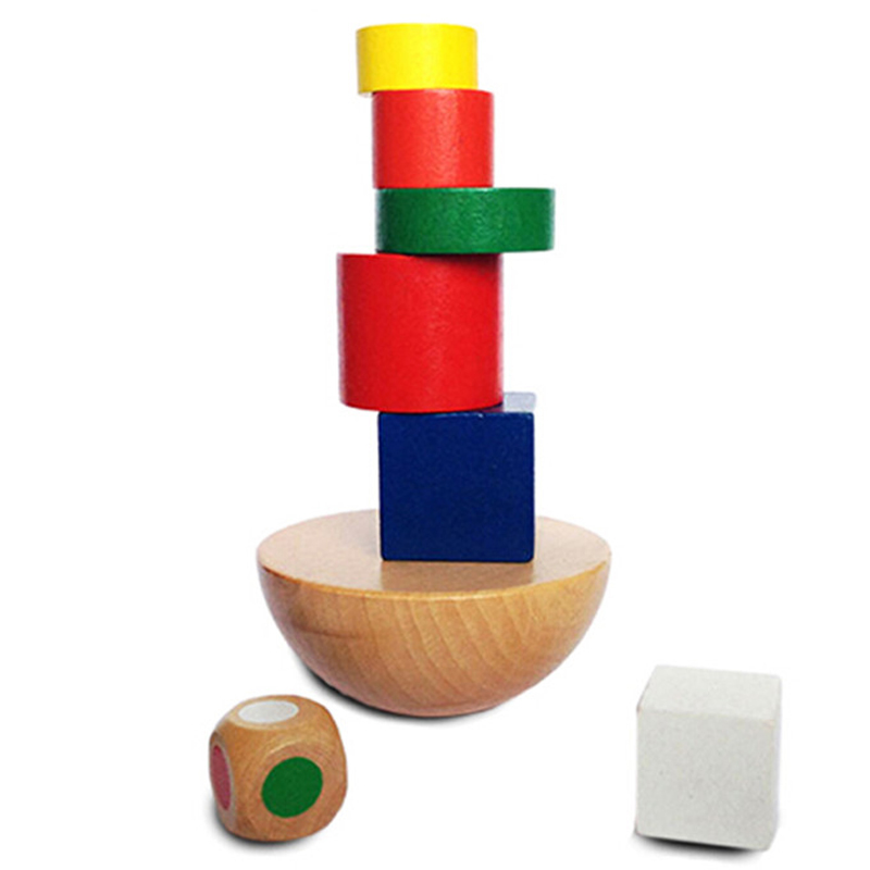 1 Set Wooden Puzzles Baby Kids Toys Montessori Balancing Game Toys For Children Geometric Cognitive Educational Toys New