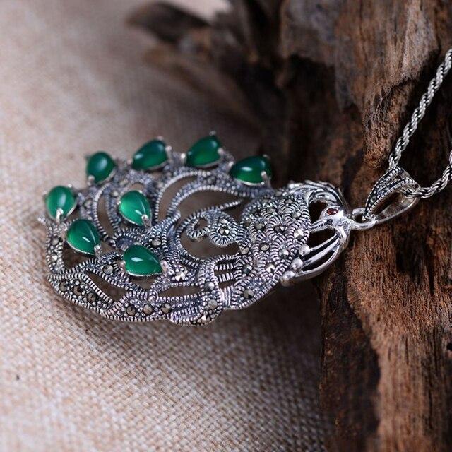 Gemstone Natural Peacock Pendant2