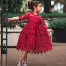 Vestido de niña lazo de encaje dzyreci para otoño, disfraz de Carnaval para niños, vestido de ceremonia, vestido de boda, vestido de chico Vintage, vestido infantil