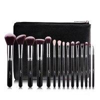 MSQ 15Pcs 1 Set Pro Makeup Fiber Hair Brushes Makeup Brush Kit Cosmetic Tool With PU