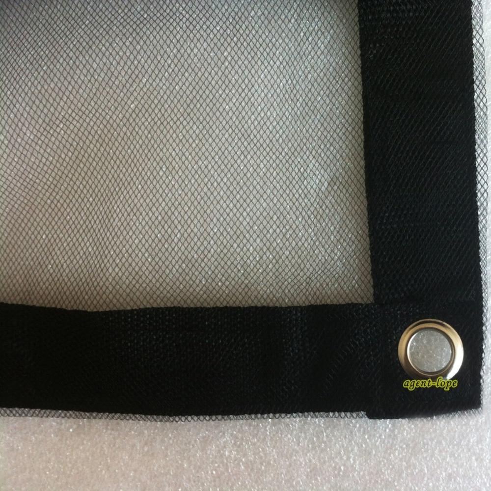 3 6x3 6m 12 x12 12x12 Single layer Black Gauze Net Cloth Scrim Butterfly Panel Reflector
