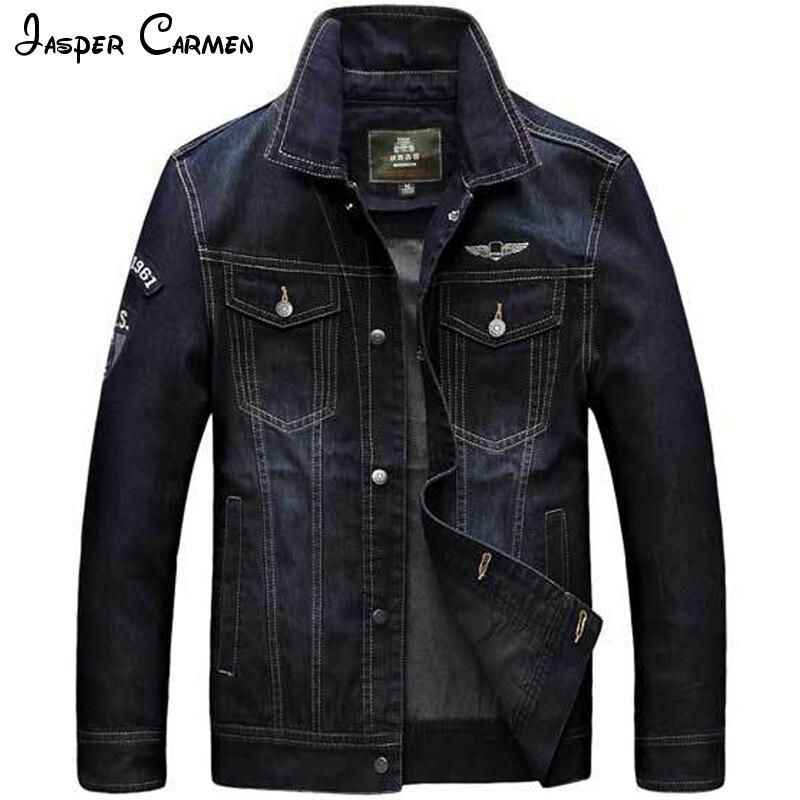 Здесь продается  2017 Denim Jacket Men AFS JEEP Brand Spring Autumn Fashion Solid Color Stand Collar Casual Printed Personality Men Jacket 186  Одежда и аксессуары