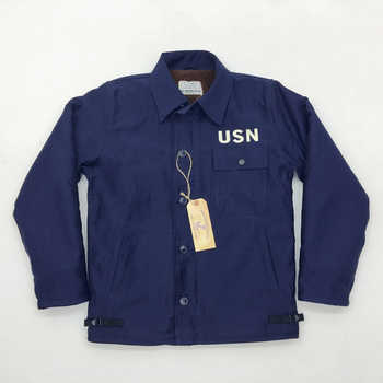 USN A-2/A2 Navy Deck Jacket Wet Weather Parka WW2 Deck Suit Military US Army Mens Lamb Velvet Jackets N-1 Vintage Coat S-2XL - DISCOUNT ITEM  10% OFF All Category