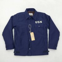 USN A 2/A2 Navy Deck Jacket Wet Weather Parka WW2 Deck Suit Military US Army Mens Lamb Velvet Jackets N 1 Vintage Coat S 2XL