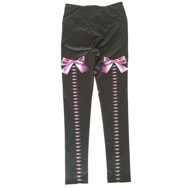 Sport Leggings Yoga Pants Bow Printing Gym Tight Fitness Athletic Leggings Sportswear Mallas Mujer Deportivas Fitness Dropship