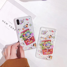 B&E Transparent clear for iPhone 7/6sPlus X case silicone cute cartoon Toy Story for iPhone 8 6 Plus back cover flip anti knock