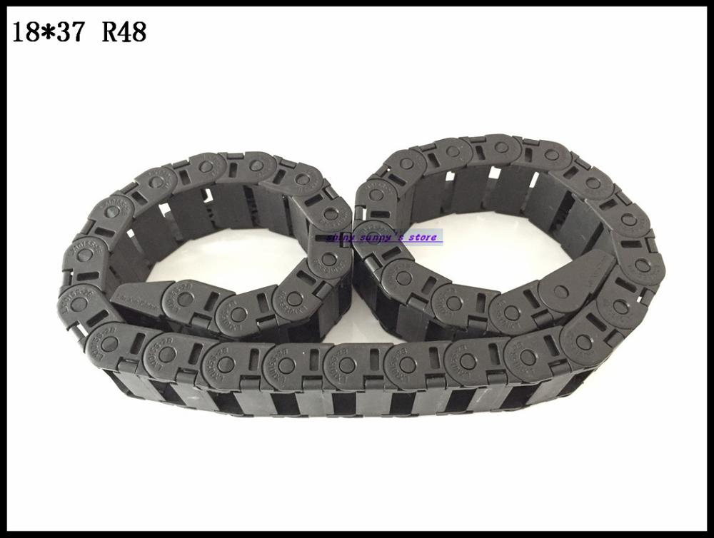 1pcs 18x37mm R48 Cable Drag Chain Wire Carrier with End Connector 18mm x 37mm L1000mm 40 for 3D CNC Router Machine Brand New 1pcs 15x30mm r28 cable drag chain wire carrier with end connector 15mm x 30mm l1000mm 40 for 3d cnc router machine brand new