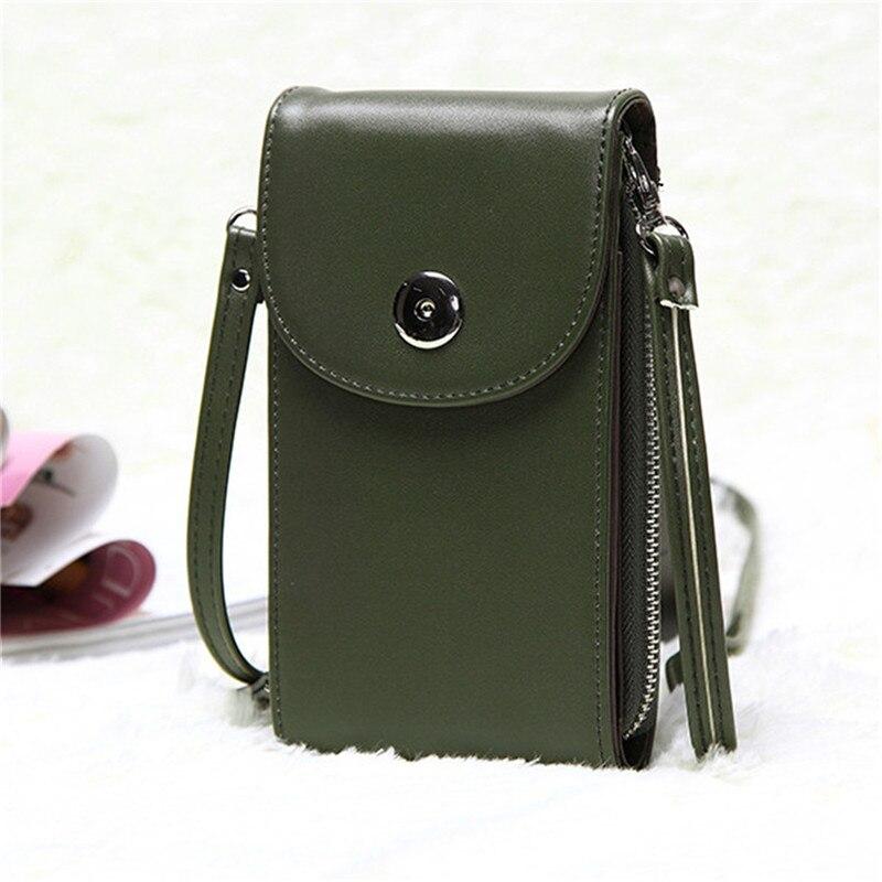 Design Handbags Korean Mini Bag Cell Phone Bags Simple Small Crossbody Bags Casual Ladies Flap Shoulder Bag Green