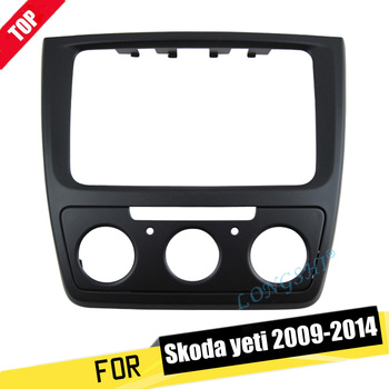 цена на LONGSHI Facia for Skoda Yeti 2009-2014 (Manual Aircon) Radio DVD Stereo CD Panel Dash Kit Trim Fascia Face Plate Frame 2 Din