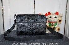 2016 Fashion Men's Genuine/Real Crocodile Skin Briefcase Laptop Bag Top Handbag Black/Brown/Coffe