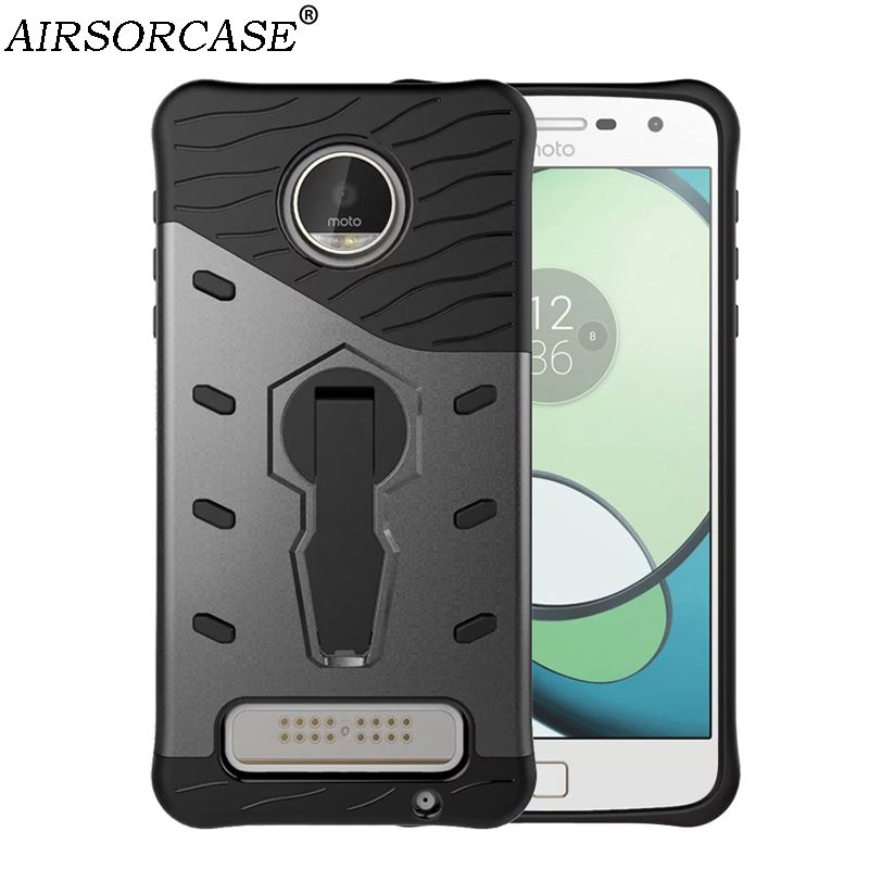 For Motorola MOTO Z Play Case 5.5 XT1635 Cover Quality Hard PC TPU Hybrid Armor Back Cover 360 Rotating Kickstand Phone Cases