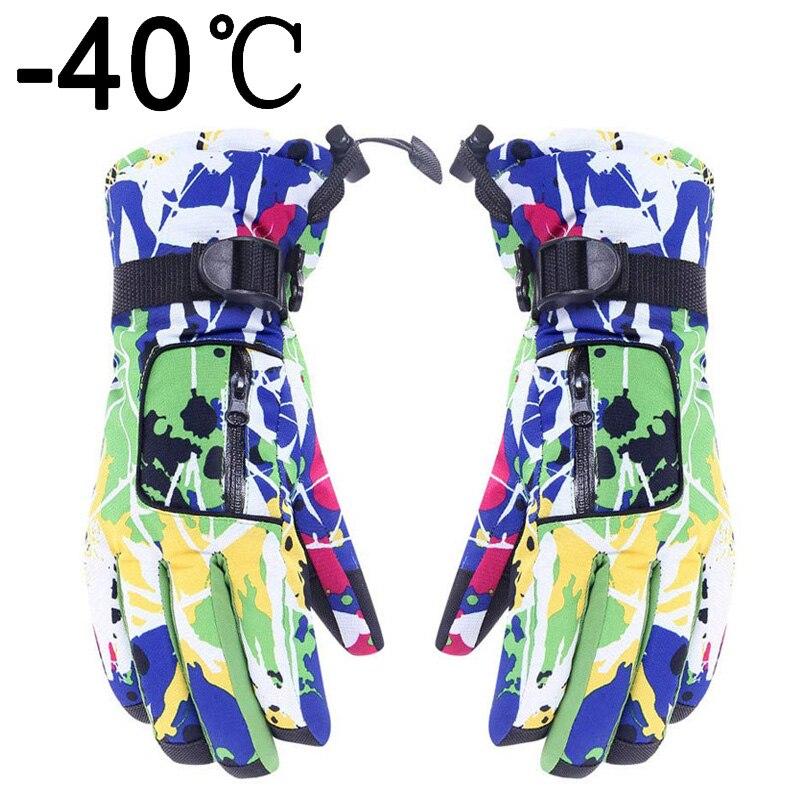 Winter Warm Ski Snowboard Gloves Women Waterproof Cold Weather Fashion Camo Snow Proof  Men Non-Slip Cycling Fitness Sports