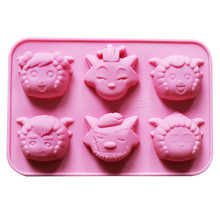 6-Cavity Soap Mold Silicone Soap Making Molds Handmade Chocolate Candy Mould Cake Decorating Tool new arrival twelve constellations set silicone cake mold chocolate toilet soap making auxiliary tool