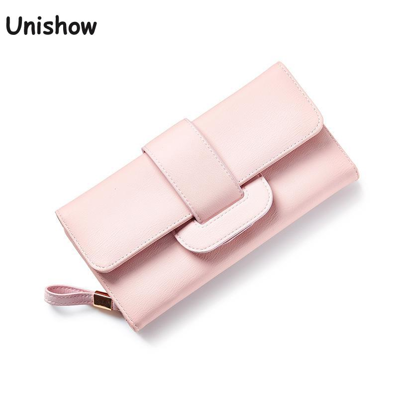 Fashion Large Capacity HASP Women Wallet Long Brand Women Purse Soild Casual Young Girl Wallet Female With Coin Purse guapabien casual bear pattern hasp design large storage wallet for women