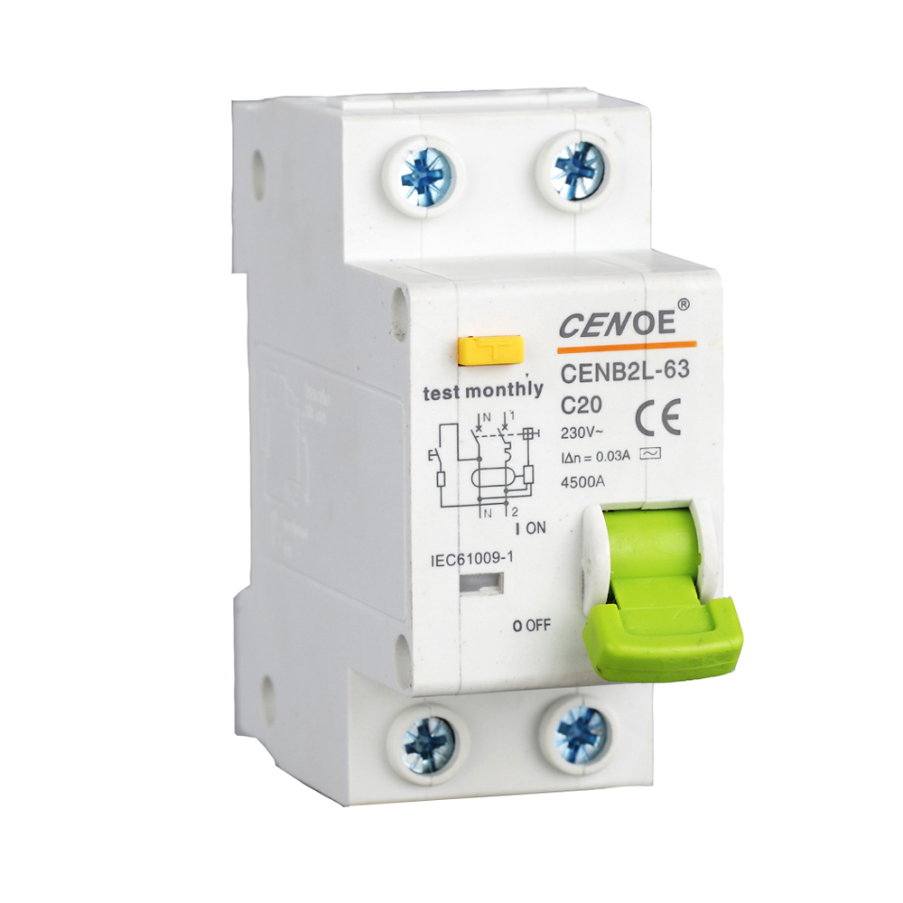 цены excellent residual current circuit breaker MCB circuit breaker 20A with excellent short circuit and over load leakage protection
