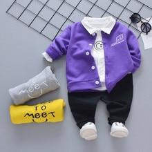 купить Spring Autumn Infant Clothing Girl Boys Clothes Baby Fashion Coat T Shirt Jeans 3pcs/Set Kids Child Fashion Casual Leisure Suits по цене 820.65 рублей