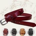 New Fashion Woman Genuine Leather Belt Female Cowskin Belts Ladies Girls Automatic Stylish Belt Buckles Luxury Adjustable Belt