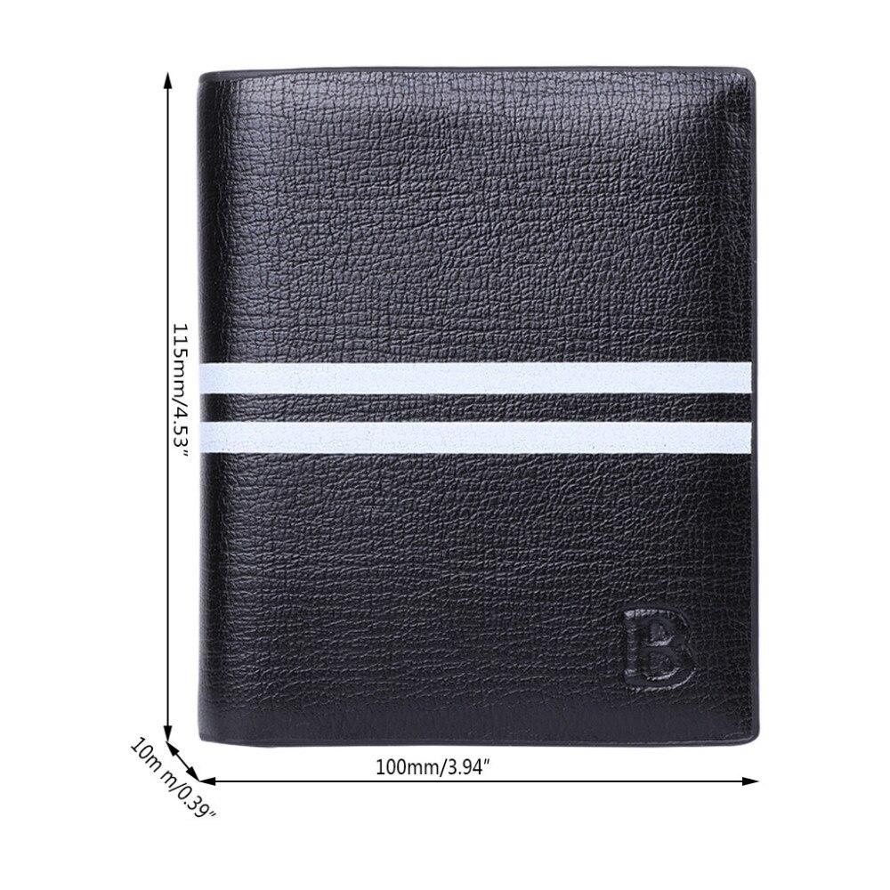 Men's Casual Faux Leather Bifold Purse ID Credit Card Holder Clutch Short Wallet zelda wallet bifold link faux leather dft 1857