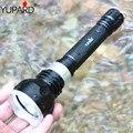 YUPARD DE BUCEO bajo el agua buzo linterna antorcha XM-L2 LED T6 lámpara de luz impermeable 18650 batería recargable blanco amarillo Luz