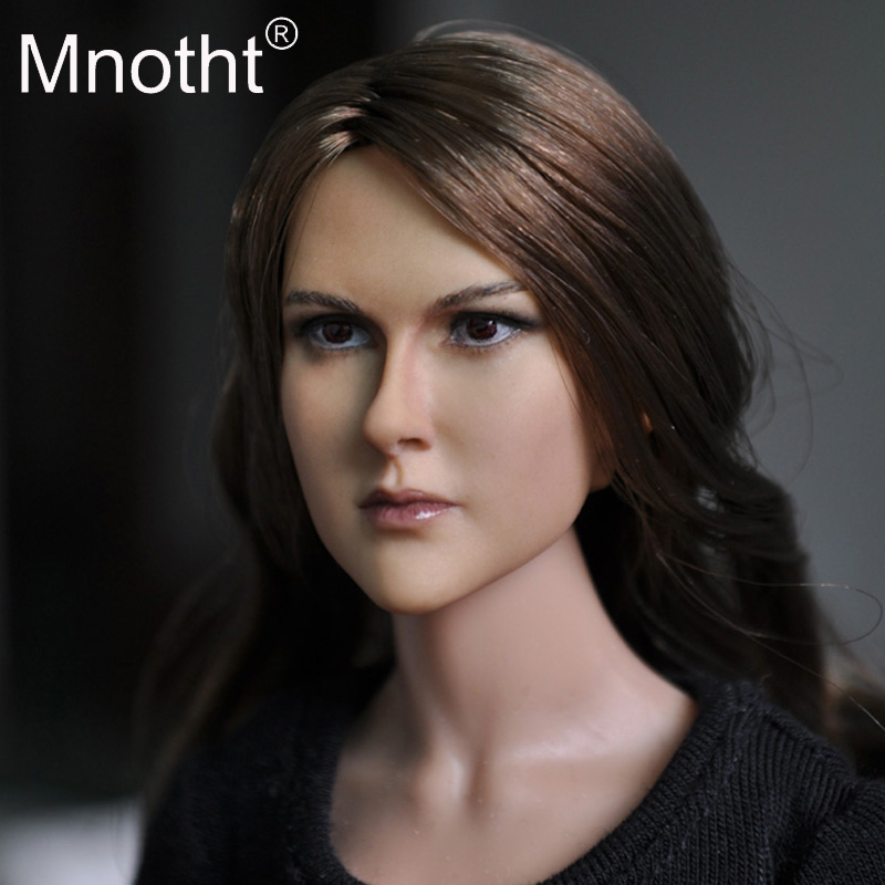Mnotht Head KM13-75 1:6 Europe & United States star Girl Female Head Sculpt Fit Hot Toys Phicen 12 Action Figure Body Doll Toy mnotht head sculpt 1 6 scale ant man paul rudd head sculpt for hot toys phicen male body in stock action