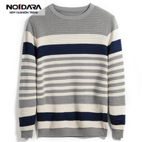 No.1 dara Mens sweaters wool warm pullovers Autumn Winter Tops knitted Long Sleeve Round Neck Male Printed stitching Sweater