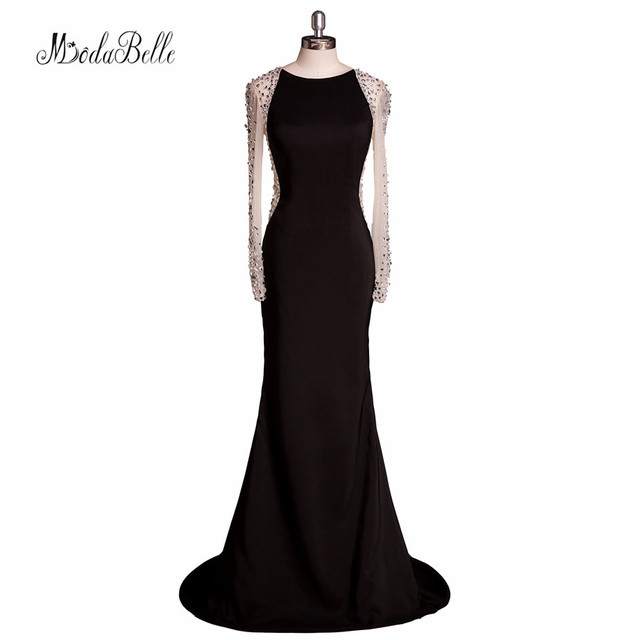 Sexy Crystal Mother Of The Bride Long Sleeve Dresses Size 16 Plus