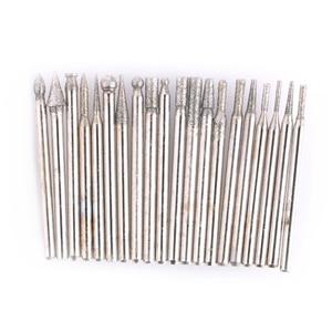 Image 4 - 20 stks Diamond Burr Bestand Dremel Multitool Boor 3mm Slijpen Hoofd Voor Carving Dremel Accessoires