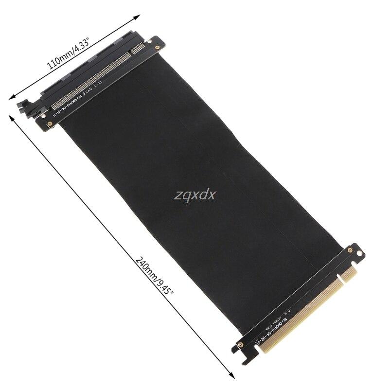 Alta velocidade pciexpress 16x riser extensor adaptador de cartão flexível cabo whosale & dropship
