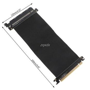 Hohe Geschwindigkeit PCIExpress 16x Riser Extender Karte Adapter Flexible Kabel Z07 Drop schiff