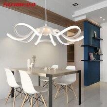 Modern LED Simple Flower Pendant Lights Lamp For Living Room Cristal Luster Pendant Lights Hanging Ceiling Fixtures