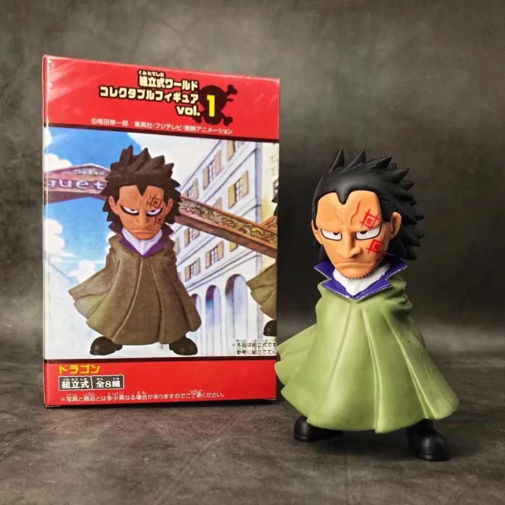 Anime One Piece Monkey D. Naga Tentara Revolusioner Monkey D one Piece Monkey D. Luffy Ayah Q-Versi PVC Action Figure Collectible Model Mainan