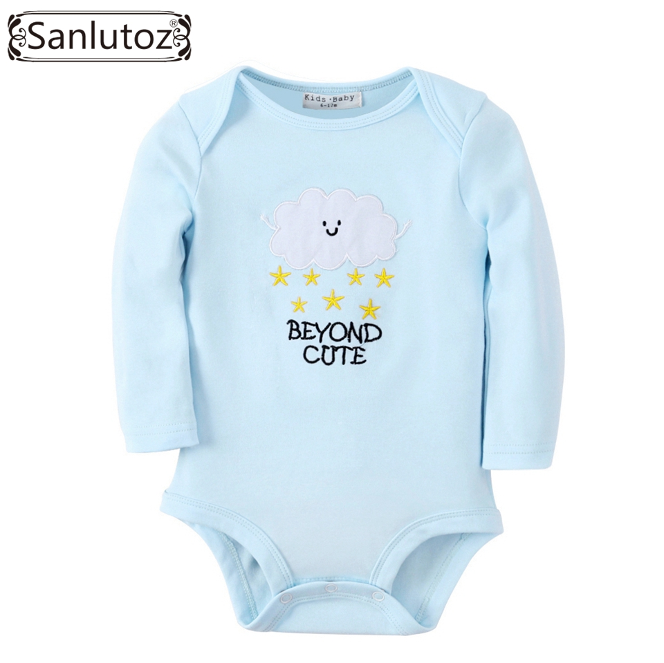 Sanlutoz Baby Clothes Newborn Baby Romper Boys Girls Winter Infant Clothing Clouds Stars Pattern Jumpsuits sanlutoz baby rompers set newborn clothes baby clothing boys girls brand cotton jumpsuits long sleeve overalls coveralls winter
