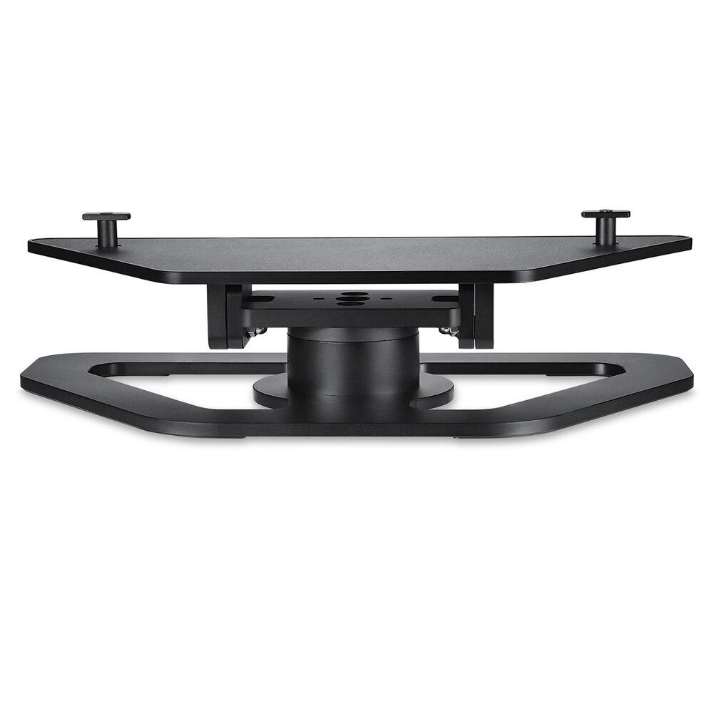 Casa Del Supporto Del Basamento Base di Montaggio In Alluminio Regolabile 360 Gradi di Rotazione Nero Staffa Durevole Ufficio Per Amazon Echo Mostra 2nd